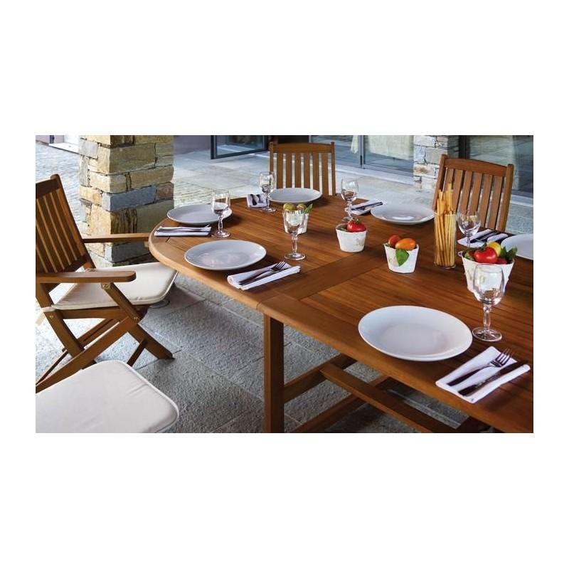 Sedia siviglia pieghevole con braccioli in legno di acacia for Liquidazione mobili
