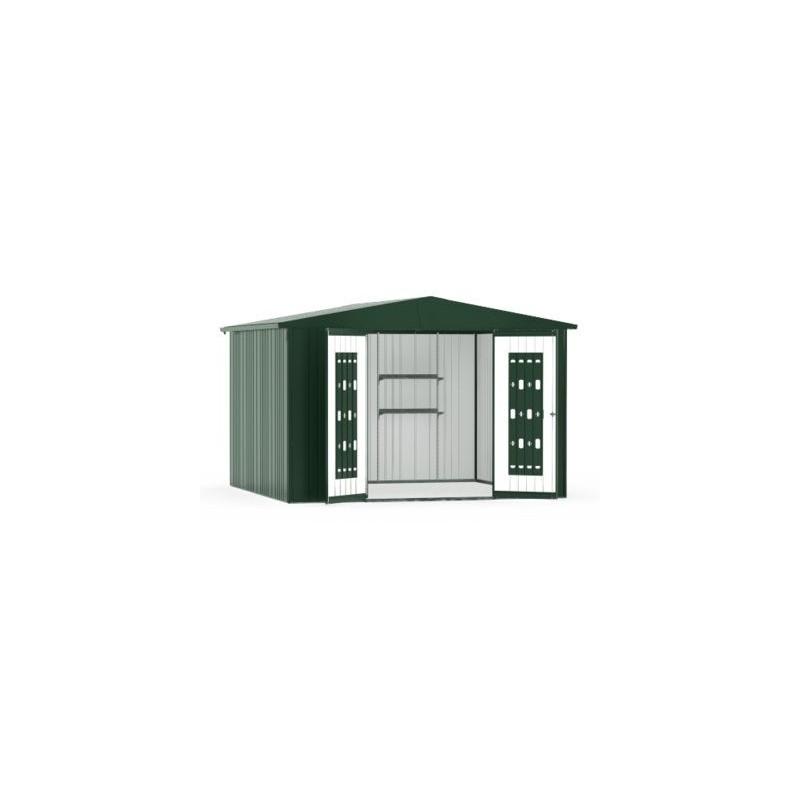 casetta da giardino in metallo europa 7 biohort. Black Bedroom Furniture Sets. Home Design Ideas