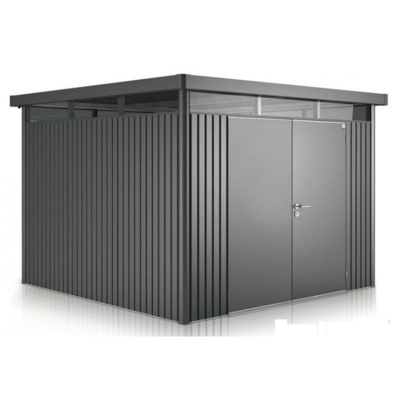 casetta da giardino in metallo highline 5 con porta a due. Black Bedroom Furniture Sets. Home Design Ideas