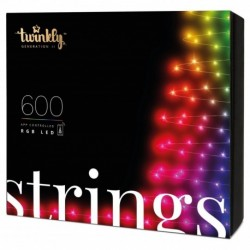 Twinkly STRINGS Smart Weihnachtsbeleuchtung 600 Led RGB II Generation