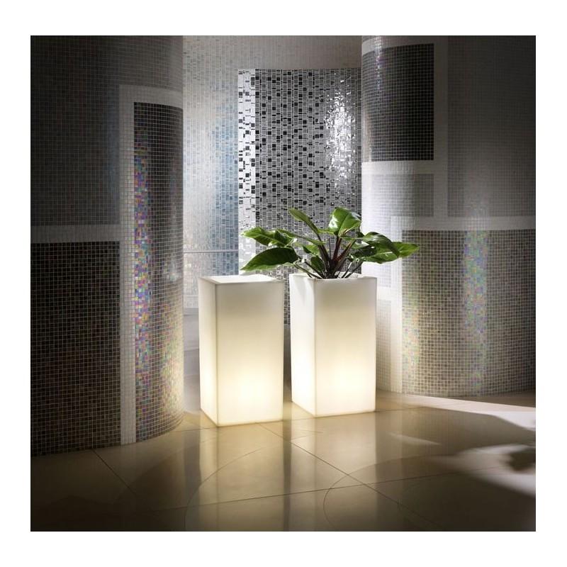 vaso schio cubo alto luminoso. Black Bedroom Furniture Sets. Home Design Ideas