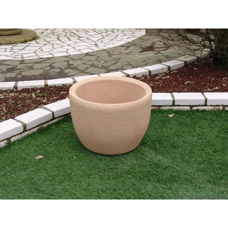 vaso in pietra ricostruita oklahoma tabacco. Black Bedroom Furniture Sets. Home Design Ideas