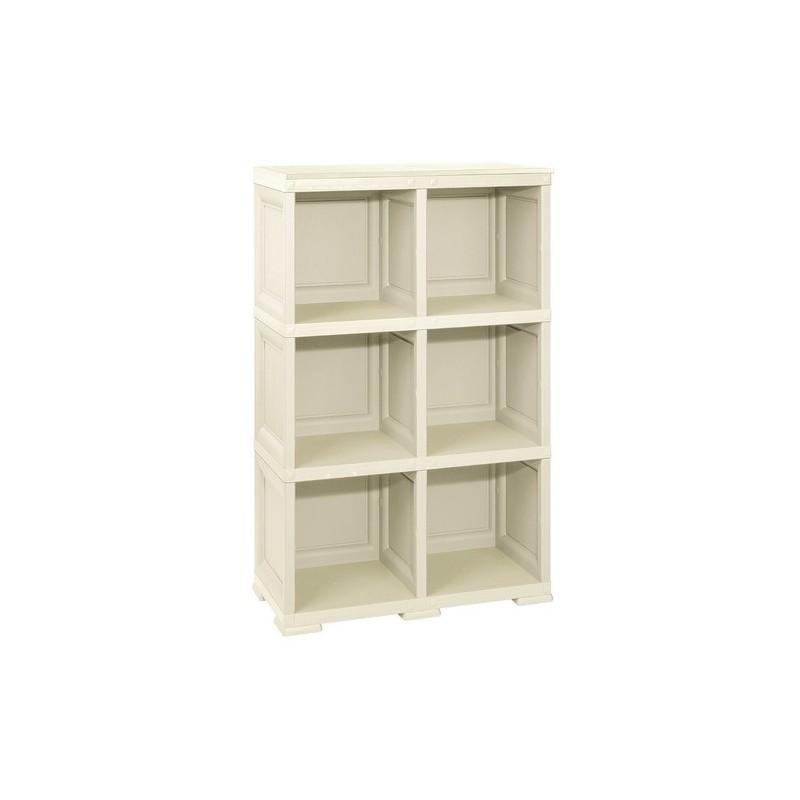 armadio in resina 3 moduli scaffale omnimodus tontarelli. Black Bedroom Furniture Sets. Home Design Ideas