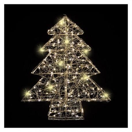 Albero Di Natale Con Luci A Led Bianco Caldo Dadolocom
