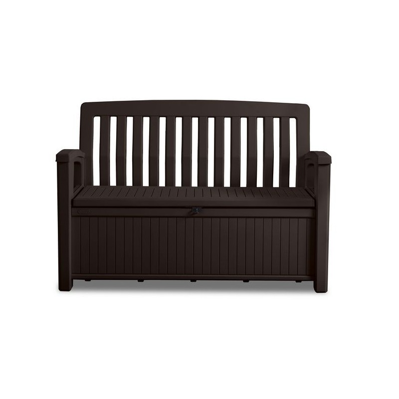 Astonishing Keter Patio Bench Graphite Plastic Storage Bench Pabps2019 Chair Design Images Pabps2019Com