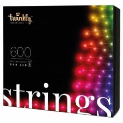 Twinkly STRINGS Luces de Navidad Inteligentes 600 Led RGB II Generation