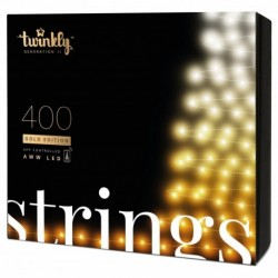 Twinkly STRINGS Luces de Navidad Inteligentes 400 Led AWW II Generation