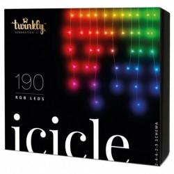 Twinkly Luces de Navidad inteligentes ICICLE 190 LEDs RGB Generación II