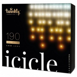 Twinkly ICICLE Luces de Navidad Inteligentes 190 Led AWW 2019 Version BT+WiFi
