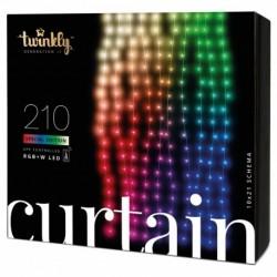 Twinkly Luces de Navidad inteligentes CURTAIN 210 LEDs RGB+W Generation II