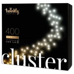 Twinkly Luces de Navidad inteligentes CLUSTER 400 LEDs AWW Generación II
