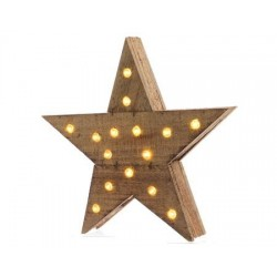 15-LED Wooden Star 30 cm