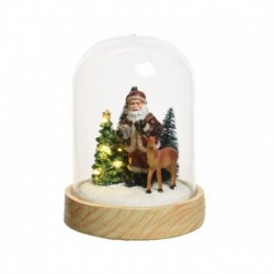 8-LED Christmas Figurine under Glass Dome 8 cm