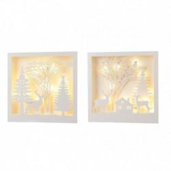 Light-Up 12-LED Christmas Scene 30 cm