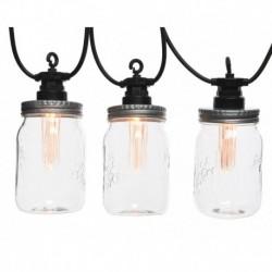 Outdoor Mason Jar String Lights 450 cm (10 LEDs)