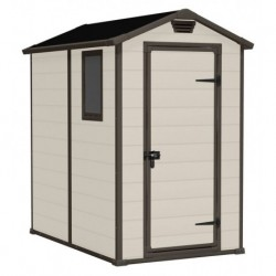 Keter MANOR 4x6 Beige Plastic Storage Shed