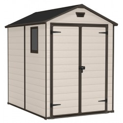 Keter MANOR 6x5 Beige Plastic Storage Shed