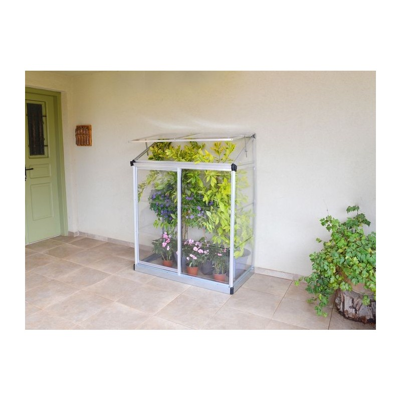 mini serra verandina 4x2 silver dim 1 16x0 56 palram. Black Bedroom Furniture Sets. Home Design Ideas