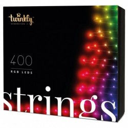 Twinkly STRINGS Guirlande LED Connectée 400 LED RGB Version 2019 BT + WiFi