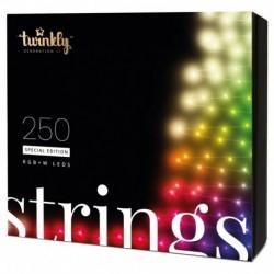 Twinkly STRINGS Guirlande LED Connectée 250 LED RGBW II Génération Câble Noir