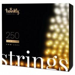 Twinkly STRINGS Guirlande LED Connectée 250 LED AWW Version 2019 BT + WiFi