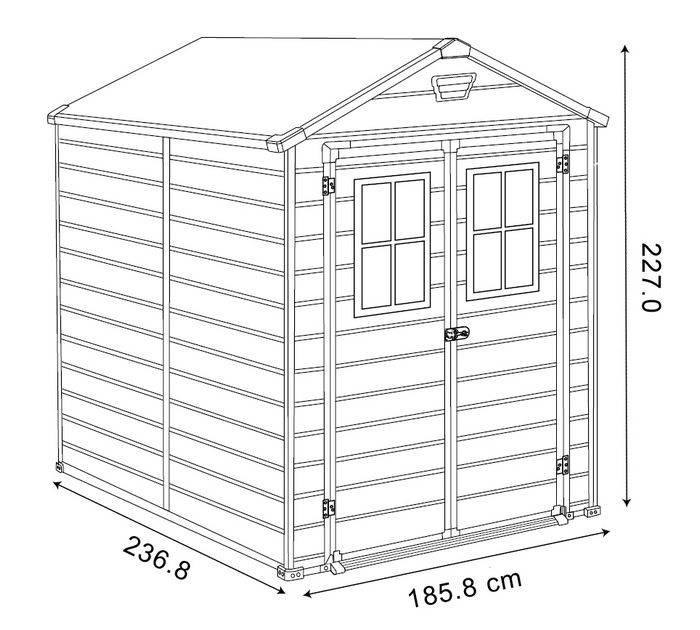 Dimensioni scala x keter with larghezza scala interna - Larghezza scala interna ...