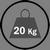 Portata per ripiano 20 kg