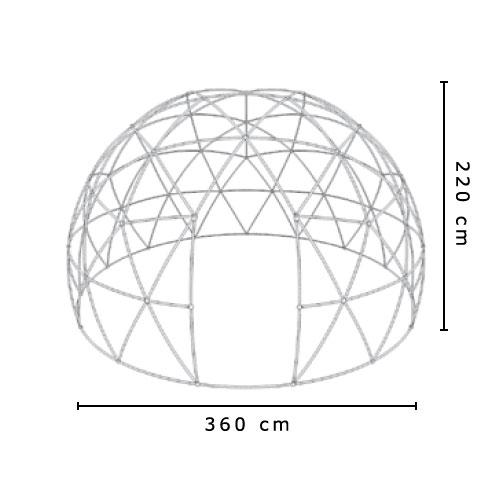 Garden Igloo 360 x h220 Cm dadolocom